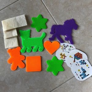 Perler beads and bead boards